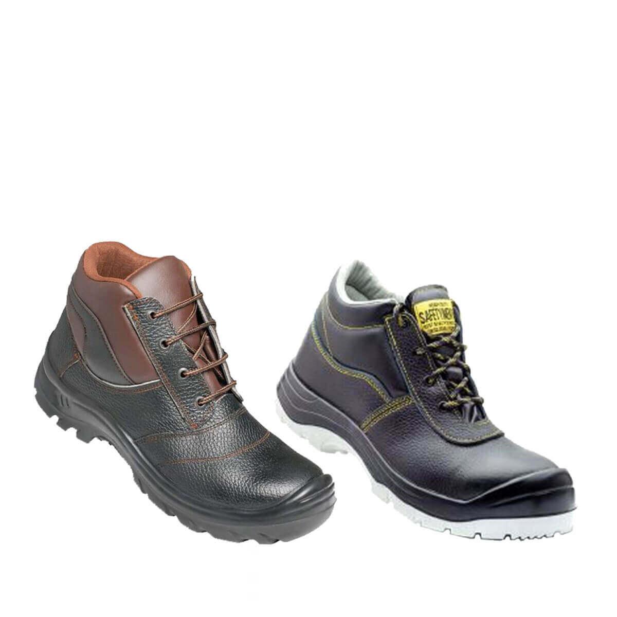 کفش کار ایمنی ( ساق بلند - آهن دار )