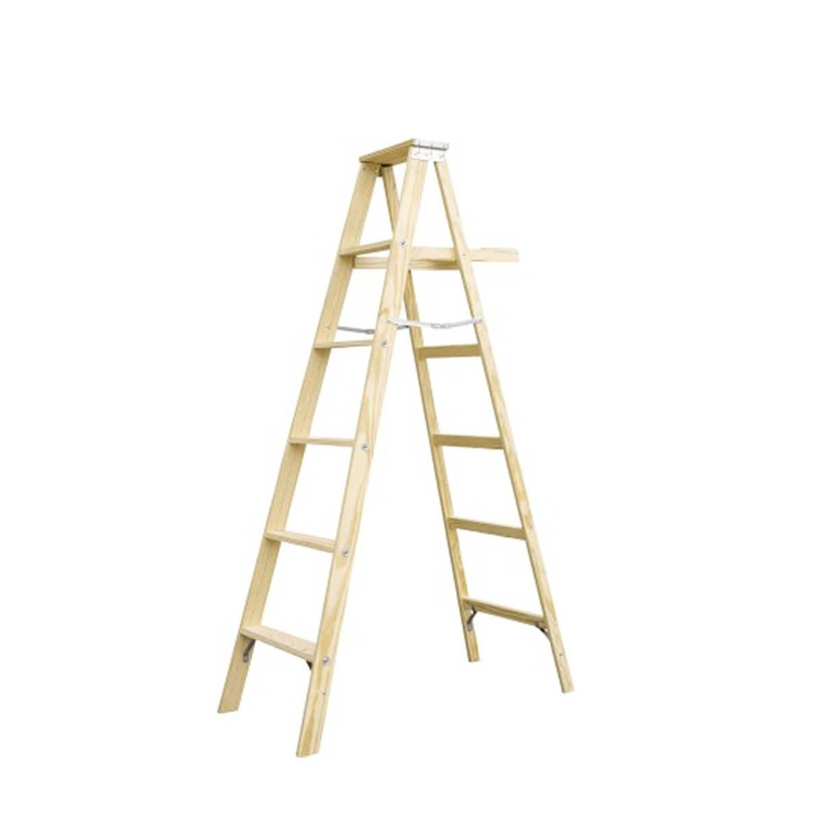 نردبان چوبی دوطرفه  ( نقاشی )